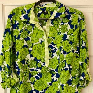 Shirt, Talbots, Green, Top